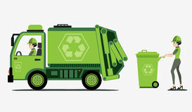 Garbage. And trash collection with white background Royalty Free Stock Image