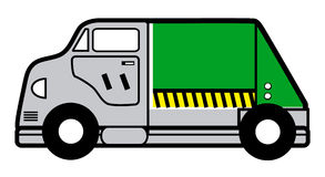 Garbage truck. Cartoon vector illustration of a garbage truck Stock Photography