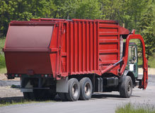 Garbage Truck. Red Garbage Truck Stock Images
