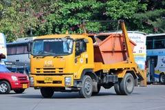 Garbage truck. CHIANGMAI, THAILAND -OCTOBER 19 2014: Garbage truck of ChiangMai Municipality. Photo at Chiangmai Bus station,Chiangmai, thailand Royalty Free Stock Image