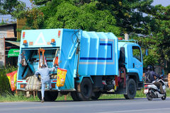 Garbage truck. CHIANGMAI, THAILAND -OCTOBER 19 2014: Garbage truck of Nongjom Subdistrict Administrative Organization. Photo at road no 121 about 8 km from Stock Photography