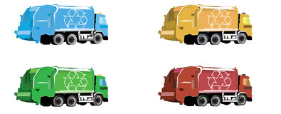 Garbage truck. Eco friendly garbage or rubbish truck Royalty Free Stock Image