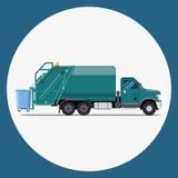 Garbage truck flat modern design Royalty Free Stock Images