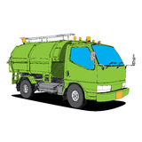 Garbage truck - Hand Drawn Royalty Free Stock Photos