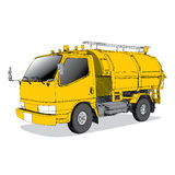 Garbage truck - Hand Drawn Royalty Free Stock Images