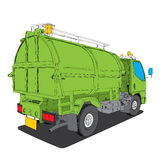 Garbage truck - Hand Drawn Royalty Free Stock Photography