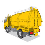 Garbage truck - Hand Drawn Royalty Free Stock Photo
