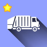 Garbage truck icon Stock Photography