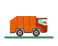 Garbage truck illustration. Stock Photography