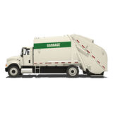 Garbage Truck Isolated Stock Images