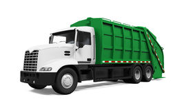 Garbage Truck. Isolated on white background. 3D render Stock Images