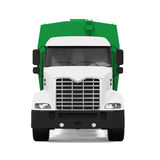 Garbage Truck. Isolated on white background. 3D render Royalty Free Stock Image