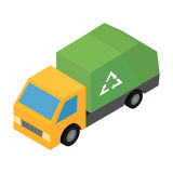 Garbage truck isometric 3d icon Stock Images