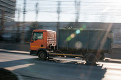 Garbage truck. On the move Stock Photography