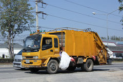 Garbage truck of Nongjom Subdistrict Administrative Royalty Free Stock Image