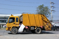 Garbage truck of Nongjom Subdistrict Administrative Royalty Free Stock Photography