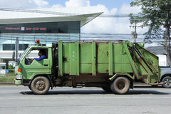 Garbage truck of Nongjom Subdistrict Administrative Organization Royalty Free Stock Photos