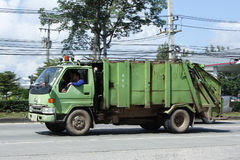 Garbage truck of Nongjom Subdistrict Administrative Organization Royalty Free Stock Images