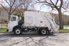 Free Garbage Truck Rear End Loader Side Royalty Free Stock Images - 62059689