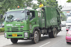 Garbage truck. On the road in Bangkok city thailand Stock Images