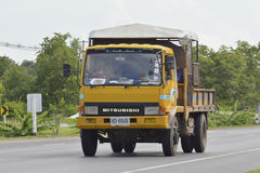 Garbage truck. On the road in Bangkok city thailand Stock Photo