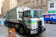 Garbage Truck in San Francisco, California Stock Image