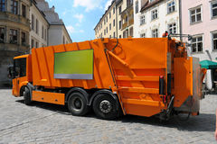 Garbage truck. In the street cities Stock Photo