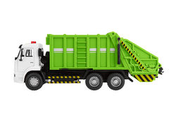 Garbage truck. Toy isolated on a white background Royalty Free Stock Photography