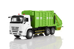 Garbage truck. Toy isolated on a white background Royalty Free Stock Image