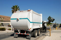 Garbage truck in the USA royalty free stock photo