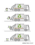 Garbage truck vector illustration Royalty Free Stock Photo
