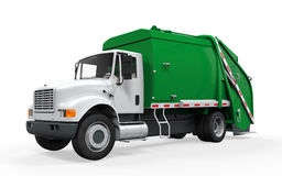 Garbage Truck. On white background. 3D render Stock Images