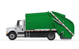 Garbage Truck. On white background. 3D render Stock Photo