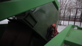 Garbage Trucks work stock video footage
