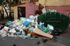Garbage in the  very center of St. Petersburg, Russia Stock Image
