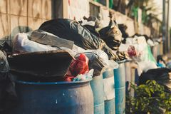 Free Garbage Waste In Bin In City Royalty Free Stock Photos - 149450328