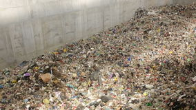 Garbage waste plant establishing stock video