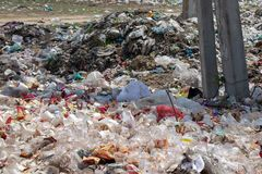 Plastic garbage, waste stock photo