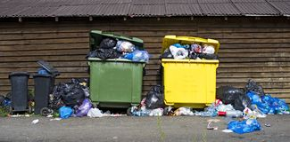 Garbage overload royalty free stock images