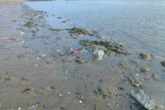 Garbage. Waste at sea to managed Stock Image