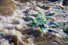 Garbage in the water Stock Image