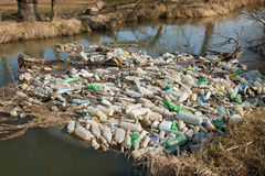 Garbage in water Stock Images