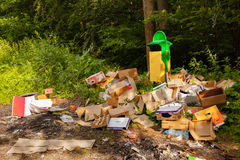 Garbage in the wild Royalty Free Stock Photography