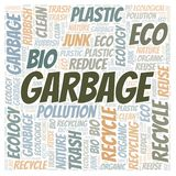 Garbage word cloud. Wordcloud made with text only vector illustration