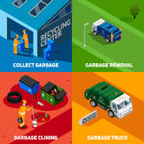 Garbage 2x2 Isometric Design Concept Royalty Free Stock Photography