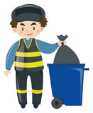 Garbageman dumping the trash Stock Photography