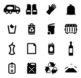 Garbageman Icons Royalty Free Stock Photography