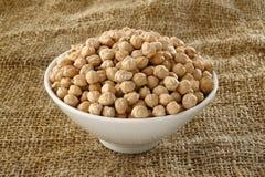 Garbanzo bean in bowl Royalty Free Stock Photo