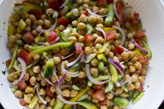 Garbanzo Bean Salad, close-up Stock Image