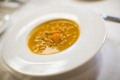 Garbanzo bean soup stock image